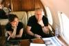 В самолете. Александр Лебедев и Чулпан Хаматова.