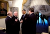 President Barack Obama meets with Mikhail Gorbachev.